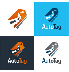 auto tag logo and icon vector image