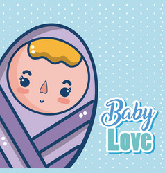 Baby love cartoons vector