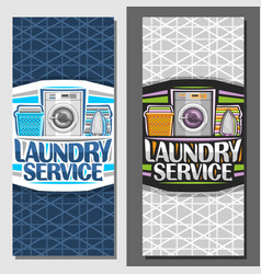 Banners for laundry service vector