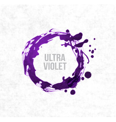 Big ultra violet purple grunge circle on rice vector