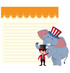 Blank note circus theme vector
