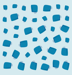 blue shopping bags decoration background vector image