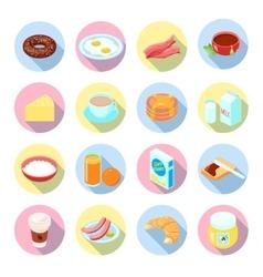 Breakfast Icon Flat Set vector