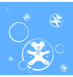 bubbles and mouse vector image