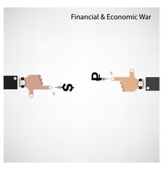Businessman hand shooting financial or economic wa vector