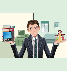 Busy businesswoman vector