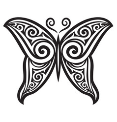 butterfly tattoo design symbol vector image