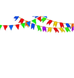 Carnival garlands flags decorative multicolor 3d vector