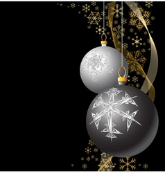 christmas bulbs vector image