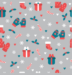 christmas seamless pattern and new vector image