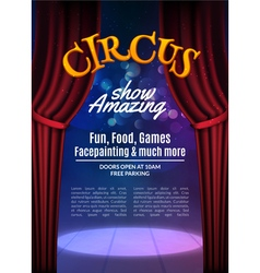 Circus show poster template with sign Festive vector