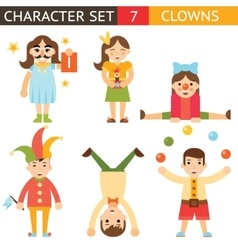 Clown 1 April Joke Fun Boys Girls Characters Icon vector image