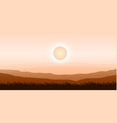 design background with hot summer vector image