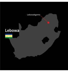 Detailed map of Lebowa and capital city vector image