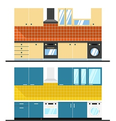 Different kitchen composition Design elements vector