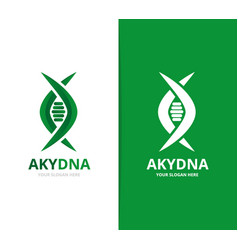dna and genetic logo combination vector image