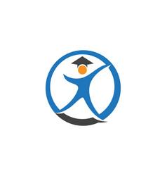 education logo template design vector image