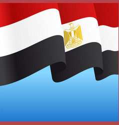 egyptian flag wavy abstract background vector image