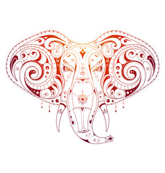 elephant head ornamental vector image