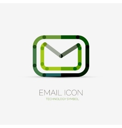 Email icon company logo business concept vector