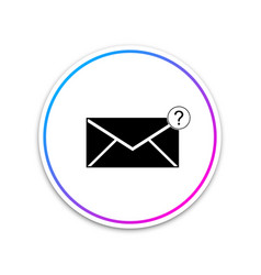 envelope with question mark icon isolated on white vector image