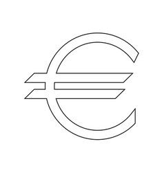 euro symbol the black color icon vector image