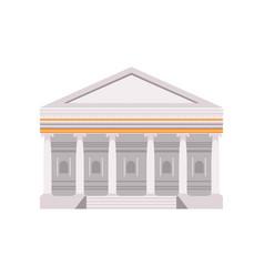 facade a traditional roman building vector image
