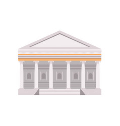 facade of a traditional roman building vector image
