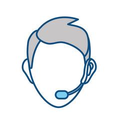 face man call center vector image