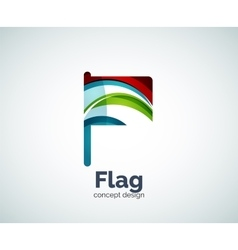 Flag logo template vector