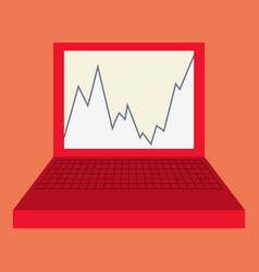 Flat icon on theme arabic business graph vector
