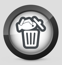 Food trash icon vector