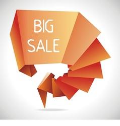 geometric sale design template vector image