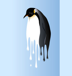 Global warming penguin vector