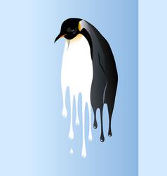 Global warming penguin vector
