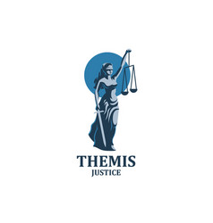 Goddess of justice themis vector