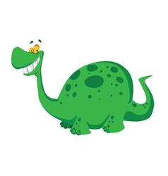 happy dinosaur vector image