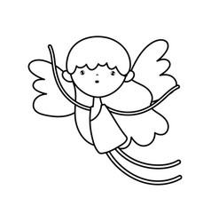 happy valentines day cute cupid love cartoon vector image