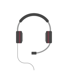 Headphones isolated flat cartoon headset vector