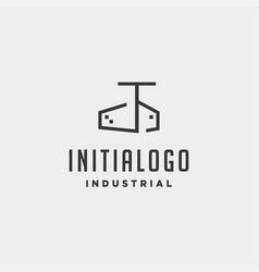 Initial letter t real estate logo design vector