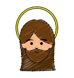 jesuschrist avatar character icon vector image