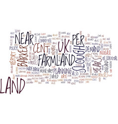 Land of farmland near slough text background word vector
