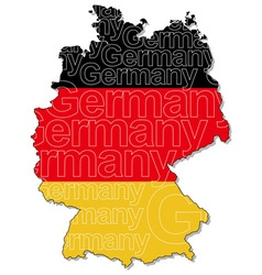 Map germany 1 vector