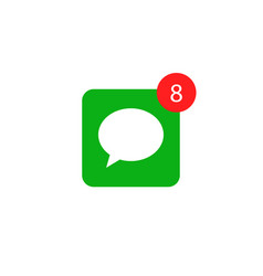 message notification alert icon bell mobile vector image