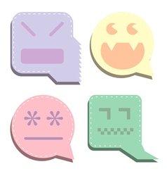 monster icons vector image vector image