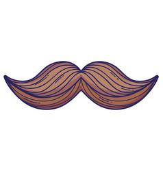 mustache cartoon isolated vector image