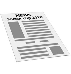 Newspaper news soccer cup 2018 championship vector