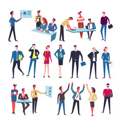 office team workers at work vector image