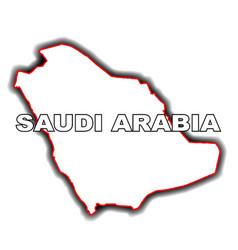 Outline map of saudi arabia vector