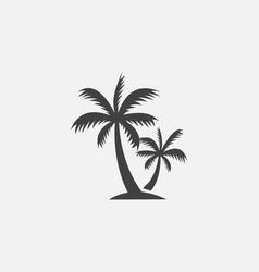 palm tree icon coconut tree icon symbol vector image